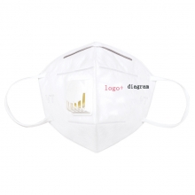earloop masks with breather valve can be printed logo OEM products